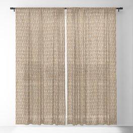 Rustic Natural Fibers  Sheer Curtain