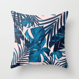 Tropical Jungle Leaves Pattern #6 #tropical #decor #art #society6 Throw Pillow