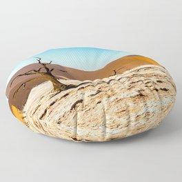Namibia - Deadvlei - Desert - Dessert - Drought - Hot - Brown. Little sweet moments. Floor Pillow