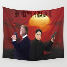 Showdown in Singapore Wall Tapestry