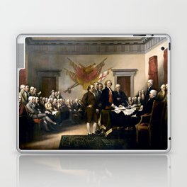 Signing The Declaration Of Independence Laptop & iPad Skin