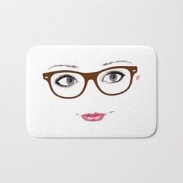 Hipster Eyes 1 Bath Mat