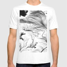 They Tell Me White MEDIUM Mens Fitted Tee