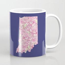 Indiana in Flowers Coffee Mug