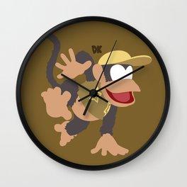 DIDDY KONG(SMASH)BROWN Wall Clock