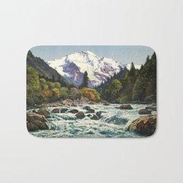 Mountains Forest Rocky River Bath Mat