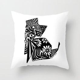 Cat Origami Throw Pillow