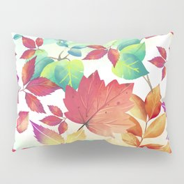 Watercolor Autumn Leaves Pillow Sham