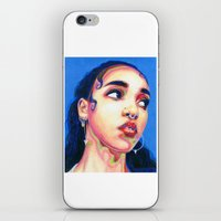 fka twigs iPhone & iPod Skins featuring Fka Twigs by Passion for Pencils