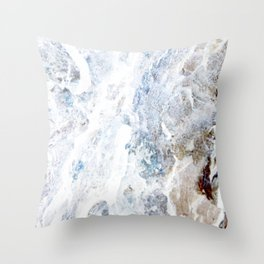 Earth Marble Throw Pillow