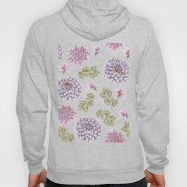 Lavender Rose Garden Floral Pattern Hoody