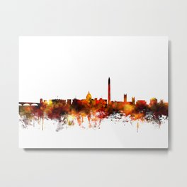Washington DC Skyline Metal Print