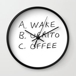 Breakfast Coffee ABC Wall Clock