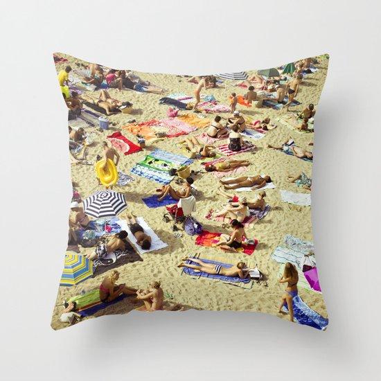 Beach pattern Throw Pillow