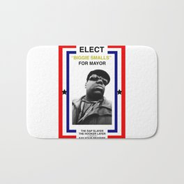 Biggie Smalls for Mayor Bath Mat