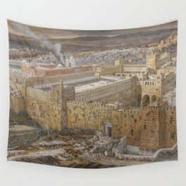 James Tissot - Reconstruction of Jerusalem and the Temple of Herod Wall Tapestry