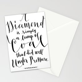 Diamond from coal Stationery Cards