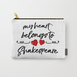 Heart Belongs to Shakespeare 1 Carry-All Pouch