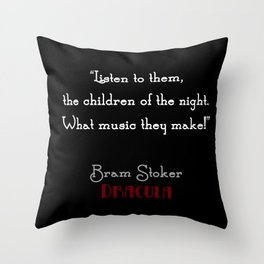 Children of the Night Throw Pillow