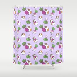 Guinea Pig and Radish Pattern Shower Curtain