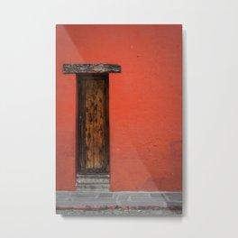 La Puerta Roja Metal Print