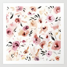 Wild Pansies Art Print