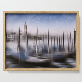 Digital-Art VENICE Grand Canal and St Mark's Campanile Serving Tray