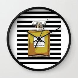 Fashion Art French Decor Pastel Perfume Print Vanity Decor Paris Wall Art Perfume Poster Coco Wall Clock