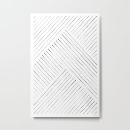 Abstract geometric line art Metal Print