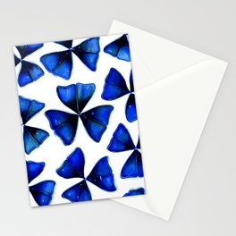 Blue oxalis leaves Stationery Cards