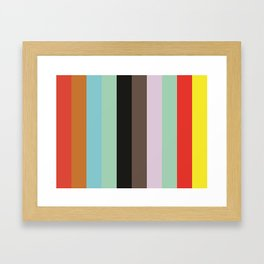 VOCABULARY Abstract Pattern Framed Art Print