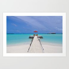 Beach Maldives Paradise Art Print