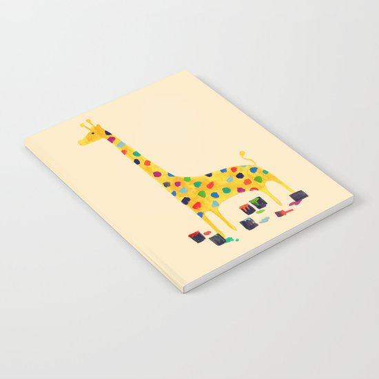Paint by number giraffe Notebook