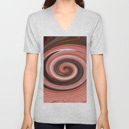 Swirl 01- Colors of Rust / RostArt Unisex V-Neck