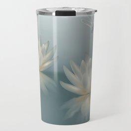 Lotus and Dragonfly Travel Mug