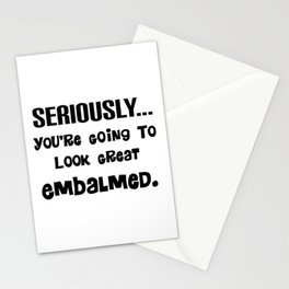 Mortuary Humor Stationery Cards