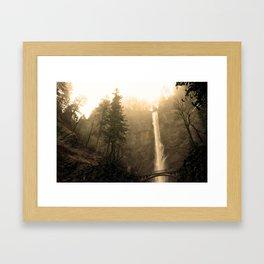Multnomah Falls - Upper Falls Framed Art Print