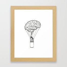 Light up my brain Framed Art Print
