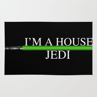 jedi Area & Throw Rugs featuring House Jedi by Jung311