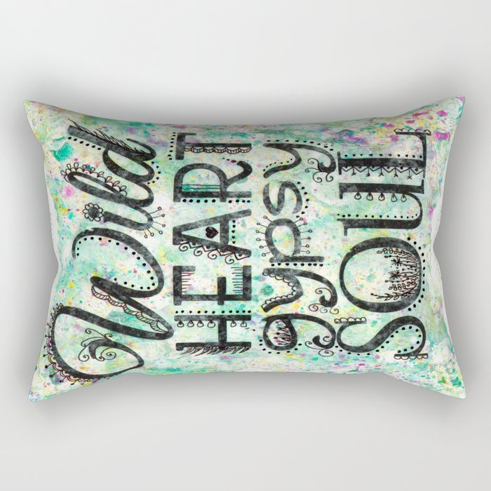 Wild Heart, Gypsy Soul Rectangular Pillow