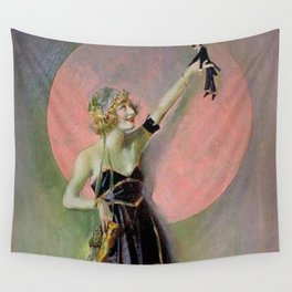 I'm Your Puppet - Jazz Age Girl with the world in her hand art deco jazz age painting by Henry Clive Wall Tapestry