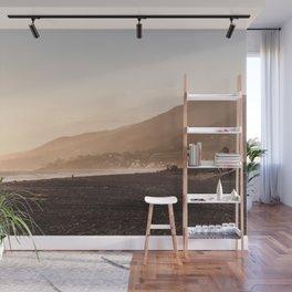 Sunset At Malibu Beach Los Angeles in California Art Photo Print   Travel Photography Wall Mural