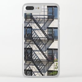 East Village Shadows Clear iPhone Case