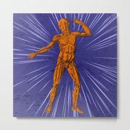 Anatomical Disco Metal Print