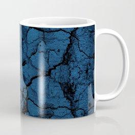 Blue cracked wall pattern Coffee Mug