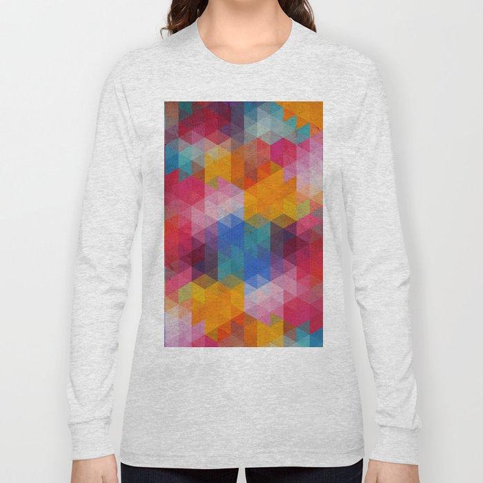 Geometric Color Dynamics Long Sleeve T-shirt