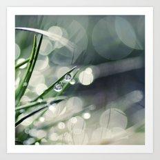 Rain + Grass = True Art Print
