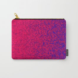 Red Scarlet Violet Pixilated Gradient Carry-All Pouch