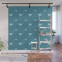 Bear in the Woods at Night Wall Mural