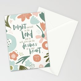 Delight yourself in the Lord Stationery Cards